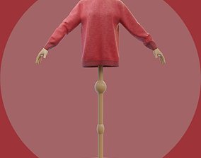 Red Christmas sweater - Female mannequin and 3D model