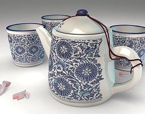 3D cup teapot