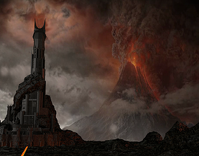 The Dark Tower of Barad-Dur 3D model