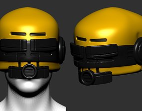 sci helmet high poly sculpt 3d printable