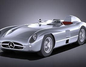 3D model Mercedes-Benz 300 SLR 1955 spider VRAY