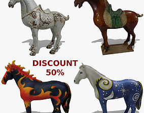 Horse Statuettes Collection volume 8 3D model