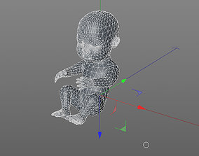 3D model baby Unborn young