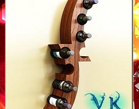 Wine Bottle Rack 01 3D model
