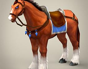 Fantasy Warrior Horse 3D model