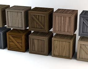 Wooden Crates Pack 3D model