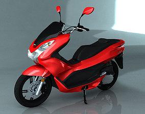 3D Honda PCX Scooter Model motor