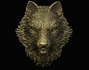 3D print model Angry Wolf Pendant