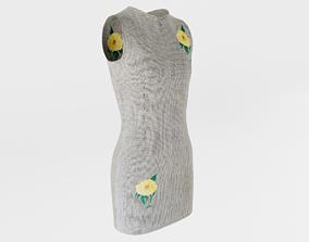1980s Dress 3D asset