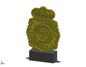 ESCUDO POLICIA NACIONAL 3D print model