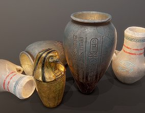 Egypt tomb jars PBR 3D model