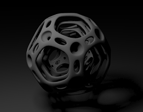 dodecahedron 3D printable model desktop
