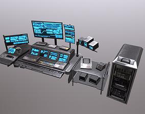 Scifi Control Desk 3D asset game-ready