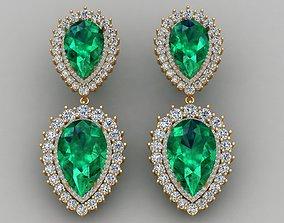 3D printable model Emerald Pear Shape Playing Diamond Gold