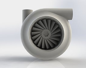 3D Functional 75mm Compact Turbocharger