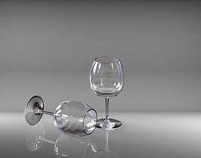 3D kitchen wine glass