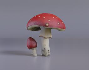 Mushroom Amanita 3D model