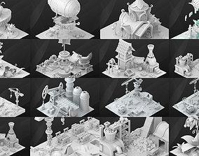 Fantasy Buildings 3D model