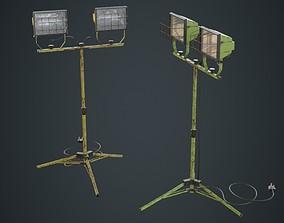 Halogen Work Light 3B 3D asset
