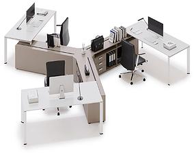 Office workspace LAS 5TH ELEMENT v23 3D