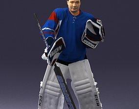 Male hockey goalie 0301 3D Print Ready