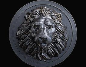 leo 3D print model Lion Head Pendant