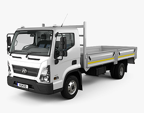 Hyundai Mighty EX8 F Truck with HQ interior and 3D model 1