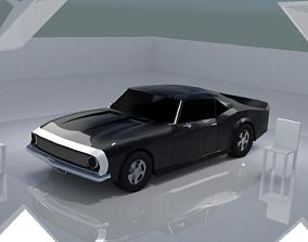 low-poly 3d Model Car Design