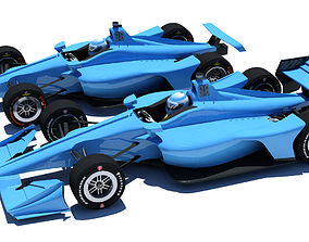 3D Indycar 2018 - Road and Oval model