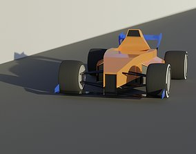 3D asset Low Poly Formula 1 Car