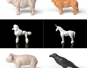 Best value low poligonal animal pack 3D asset