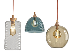 AWESOME HANGING GLASS LAMP DESIGNS 3D