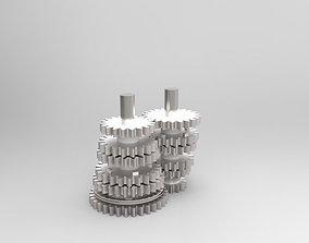 3D model 6 Speed transmission