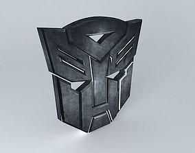 Transformers Autobots Logo 3D