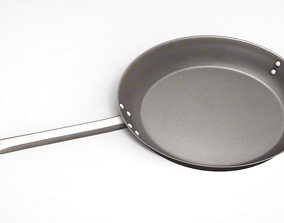 High Poly Frying pan 3D model
