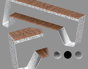 3D model Hopper bench