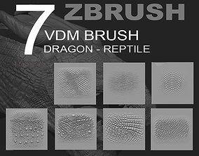 ZBRUSH VDM PACK REPTILE DRAGON 3D
