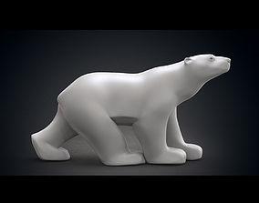 3D model Polar Bear Modern Marble Sculpture