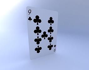 3D Nine of Clubs