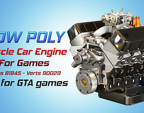 CNC-Motorsports Engine - V8 Muscle Cars Engine 3D asset
