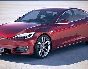 3D Tesla Model S P100D 2018