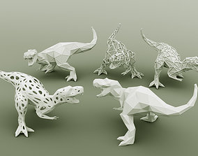 3D PRINTED MODEL T-REX-5-PATTERN-DESIGN