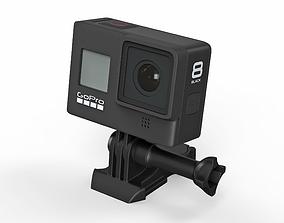 3D model Action camera GoPro Hero8 Black