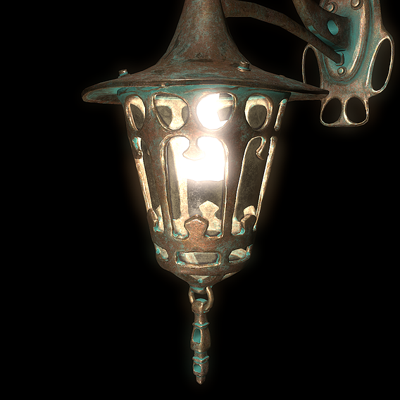 Old outdoor lamp