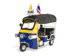 Tuk-Tuk Motor-tricycle in Thailand 3D model