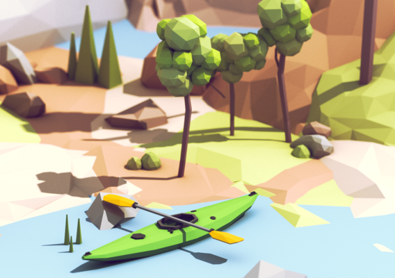 Low Poly Kayak
