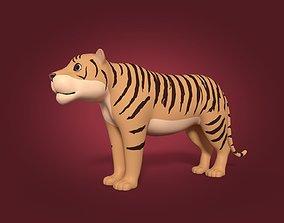 Cartoon Tiger animal 3D model