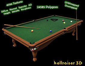 Pool Table - Textured 3D asset