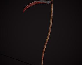 Bloody Scythe 3D asset
