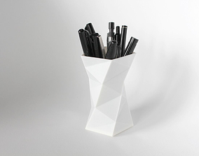 008a - Pen Holder - Faceted - 3D printable model